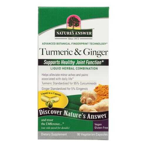 Nature's Answer - ExtractaCaps Turmeric and Ginger - 90 Veggie Caps