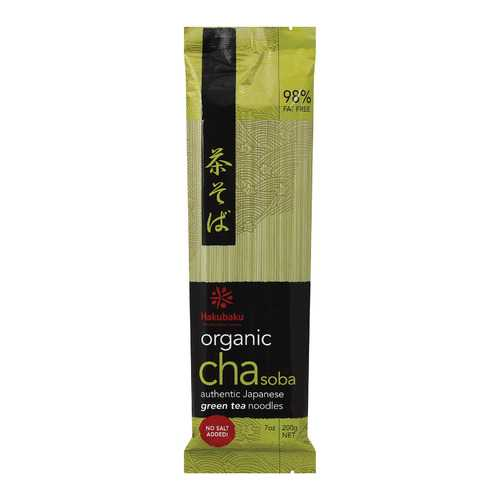 Hakubaku 100% Organic Noodles - Soba Green Tea - Case of 10 - 7.05 oz