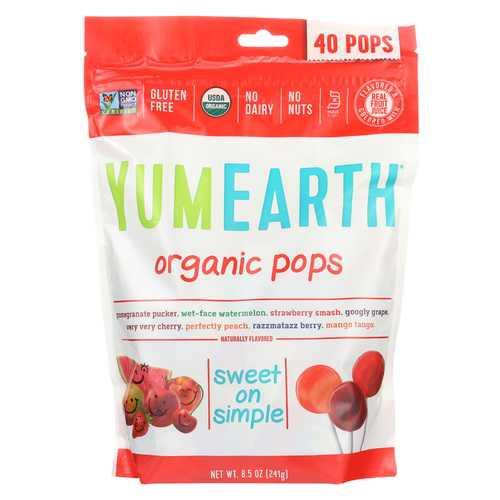 Yumearth Organics Organic Lollipops - Assorted - 8.5 oz