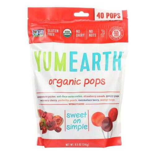 Yummy Earth Lollipop - Organic - 40 Plus Assorted - 8.5 oz