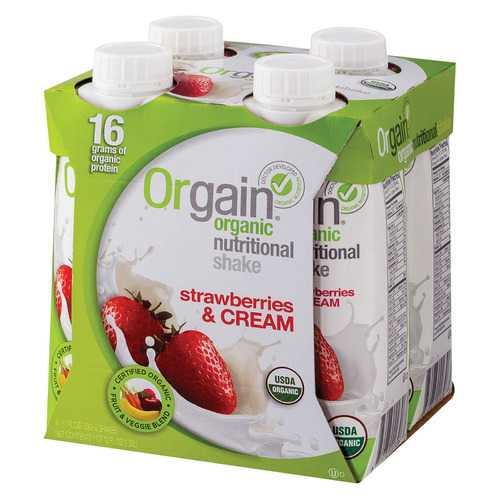 Orgain Nut Shake - Organic - Strawberry & Cream - Case of 3 - 4/11 fl oz