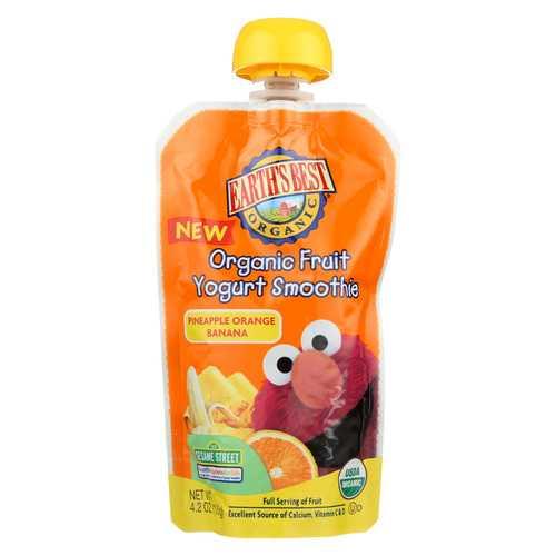 Earth's Best Baby Foods Organic Fruit Yogurt Smoothie - Pineapple, Banana and Orange - Case of 12 - 4.2 oz.
