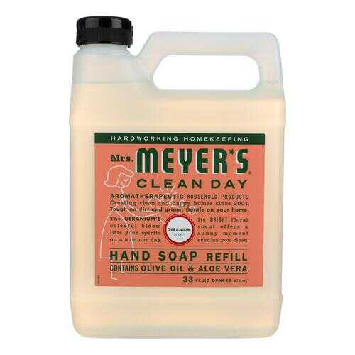 Mrs. Meyer's Clean Day - Liquid Hand Soap Refill - Geranium - Case of 6 - 33 fl oz.