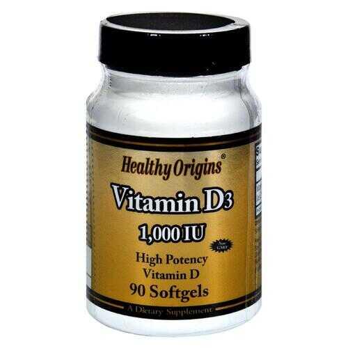 Healthy Origins Vitamin D3 - 1000 IU - 90 softgels