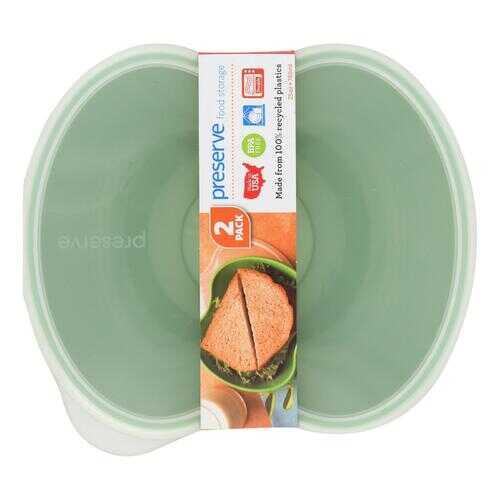Preserve Square Food Storage Set - Green - Set of 2