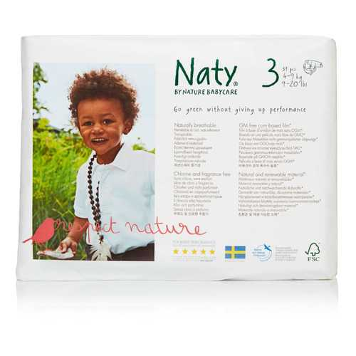 Naty - Baby Diaper Size 3 16-28lb - Case of 4 - 31 CT