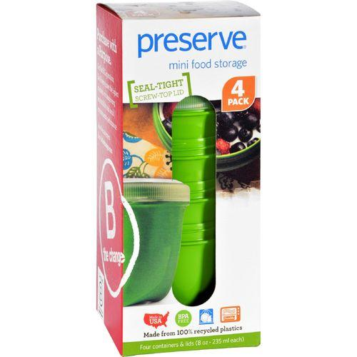 Preserve Food Storage Container - Round - Mini - Apple Green - 8 oz - 4 Pack - Case of 8