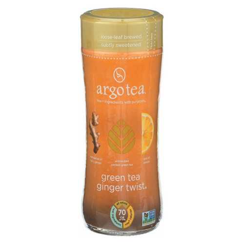 Argo Tea Iced Green Tea - Ginger Twist - Case of 12 - 13.5 Fl oz.
