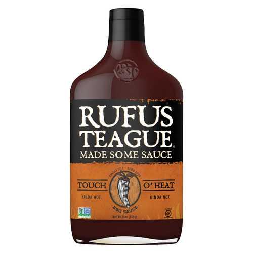 Rufus Teague BBQ Sauce - Touch O'Heat - Case of 6 - 16 oz.