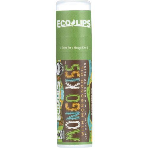 Mongo Kiss Display Center - Lip Balm - Organic - Eco Lips - Peppermint - .25 oz - case of 15