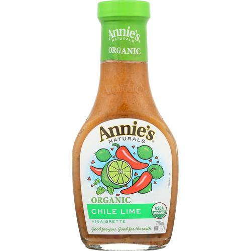 Annie's Naturals Vinaigrette Organic Chile Lime - Case of 6 - 8 fl oz.