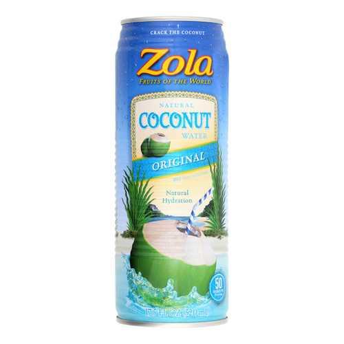 Zola Acai Coconut Water - Pure - Case of 12 - 17.5 Fl oz.