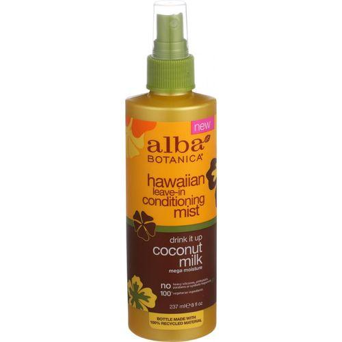 Alba Botanica Leave In Conditioning Mist - Hawaiian - Drink It Up Coconut Milk - 8 oz