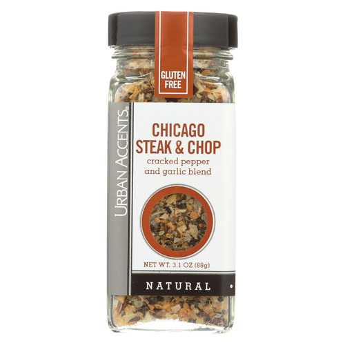 Urban Accents Spice - Chicago Steak and Chop - Case of 4 - 3.1 oz