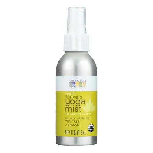 Aura Cacia - Organic Yoga Mist - Purifying Tea Tree and Lemon - 4 oz