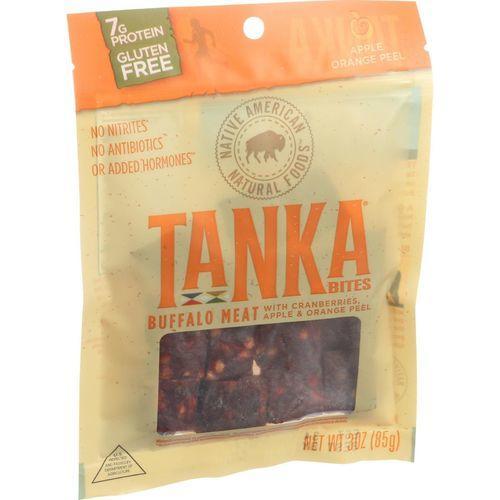 Tanka Bar Bites - Buffalo with Cranberries Apple and Orange Peel - 3 oz - Case of 6