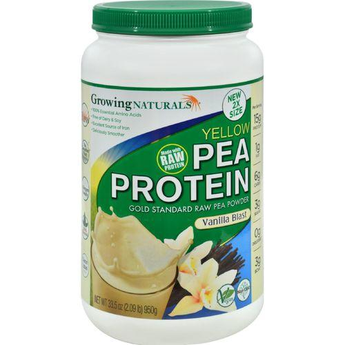 Growing Naturals Pea Protein Powder - Vanilla Blast - 33.5 oz