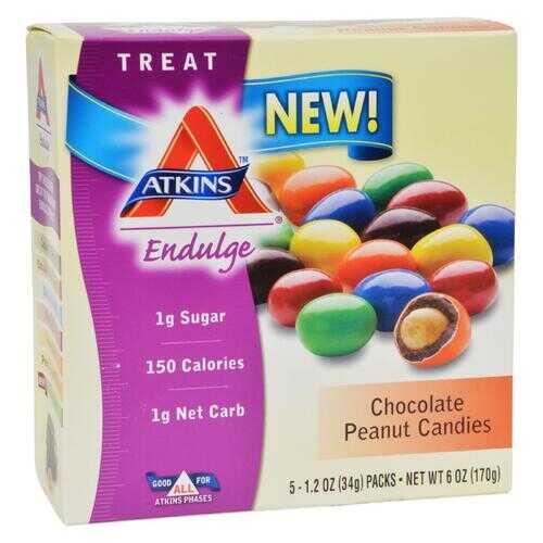 Atkins Endulge Bars - Chocolate Peanut Candies - 1.2 oz - 5 Count