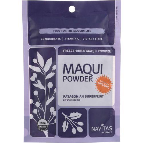 Navitas Naturals Maqui Powder - Organic - Freeze-Dried - 3 oz - case of 6