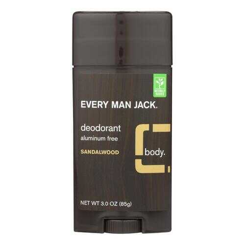 Every Man Jack Body Deodorant - Sandalwood - Aluminum Free - 3 oz
