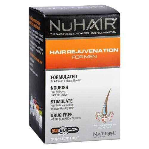 NuHair Hair Regrowth for Men - 60 Tablets