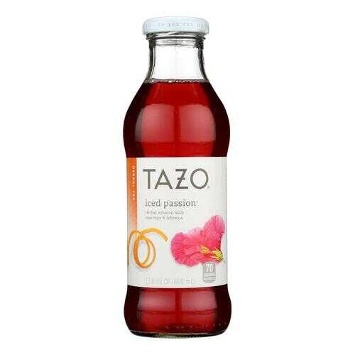Tazo Iced Passion Herbal Tea  - Case of 12 - 13.8 FZ