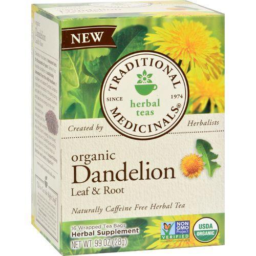 Traditional Medicinals Tea - Organc - Hrbl - Dndln Leaf Rt - 16 ct - 1 Case