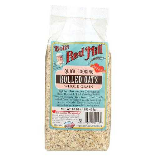 Bob's Red Mill Rolled Oats - Quick Cooking - Case of 4 - 16 oz.