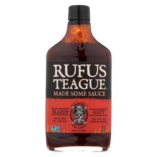 Rufus Teague - BBQ Sauce - Blazin Hot - Case of 6 - 16 oz.