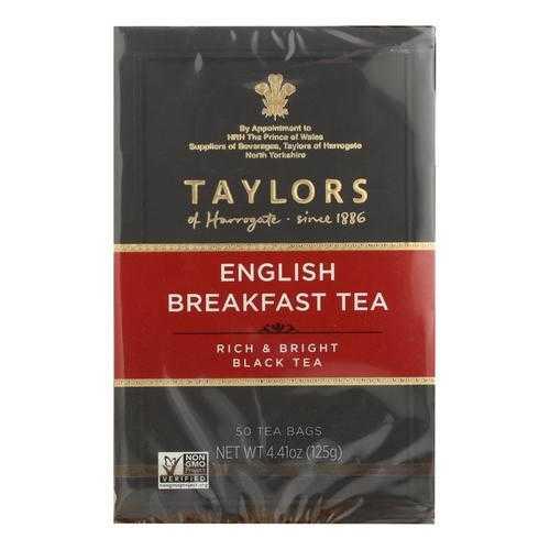 Taylors Of Harrogate English Breakfast Tea Bags - Case of 6 - 50 BAG