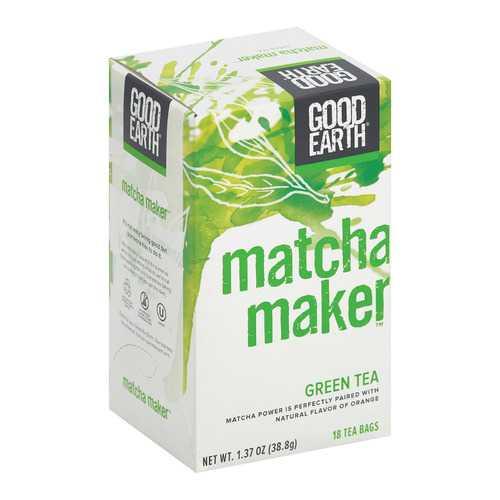 Good Earth Green Tea - Matcha Maker - Case of 6 - 18 Count