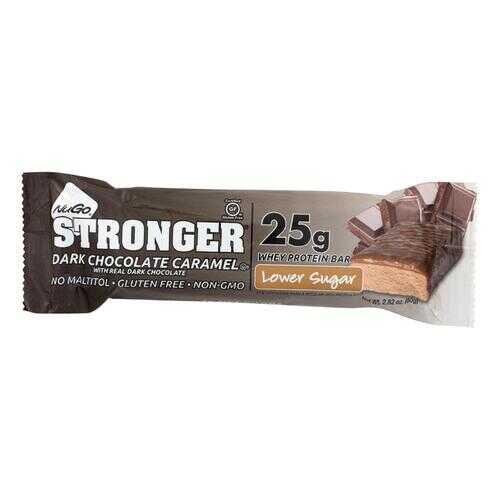 NuGO Nutrition Bar - Stronger Real Dark Chocolate - 2.82 oz - Case of 12