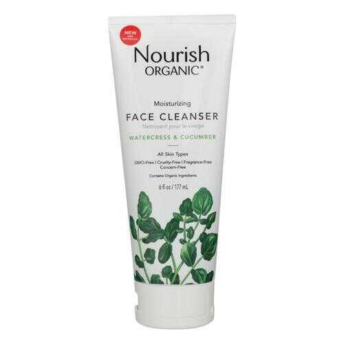Nourish Organic Face Cleanser - Moisturizing Cream Cucumber and Watercress - 6 oz