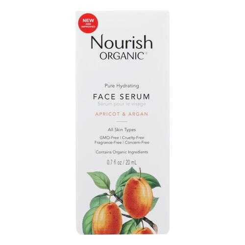 Nourish Organic Face Serum - Pure Hydrating Argan Apricot and Rosehip - .7 oz