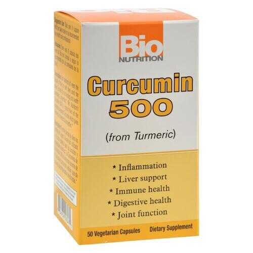 Bio Nutrition - Curcumin 500 - 50 Vegetarian Capsules