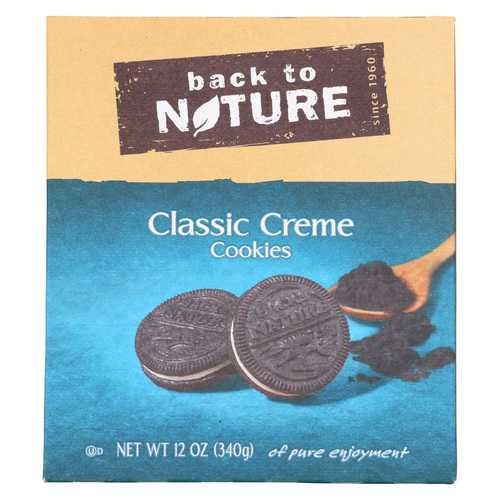 Back To Nature Creme Cookies - Classic - Case of 6 - 12 oz.
