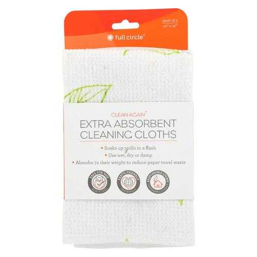 Full Circle Home - Extra Absorbant Cleaning Cloths - Case of 6 - 2 Count