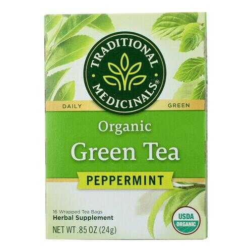 Traditional Medicinals Tea - Organic - Green Tea - Ppprmnt - 16 ct - 1 Case