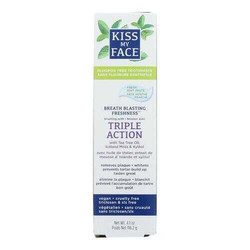 Kiss My Face Toothpaste - Triple Action - Fluoride Free - Paste - 4.5 oz