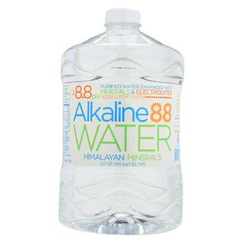 Alkaline 88 - Water Purified 8.8 Ph - Case of 4 - 3 Liter