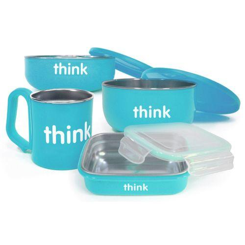 Thinkbaby  The Complete BPA Free Feeding Set - Lt. Blue