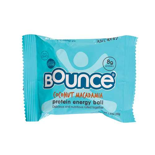 Bounce Energy Balls - Coconut and Macadamia - Case of 12 - 1.41 oz.