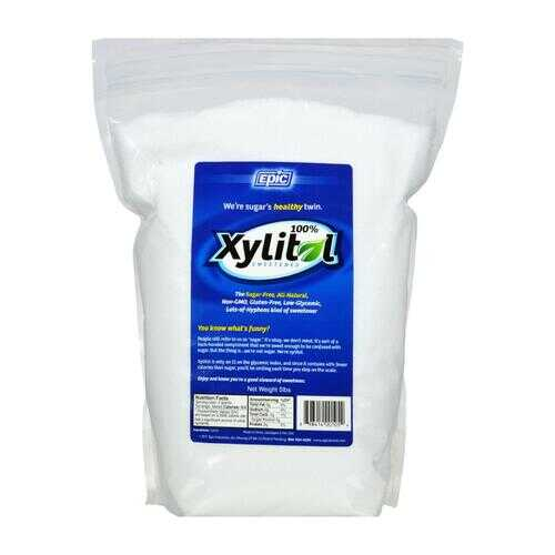 Epic Dental - 100 Percent Xylitol Sweetener - Pouch - 5 lb