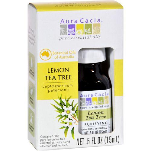 Aura Cacia - Essential Oil - Pure - Lemon Tea Tree - .5 fl oz