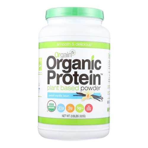 Orgain Organic Protein Powder - Plant Based - Sweet Vanilla Bean - 2.03 lb