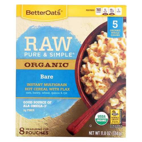 Better Oats Organic Instant Multigrain Hot Cereal - Bare - Case of 6 - 11.8 oz.