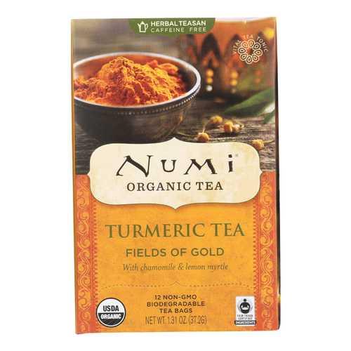Numi Tea - Organic - Turmeric - Fields of Gold - 12 Bags - Case of 6