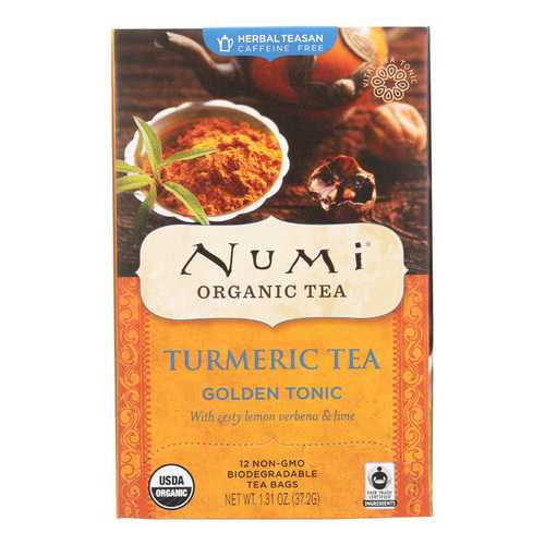 Numi Tea - Organic - Turmeric - Golden Tonic - 12 Bags - Case of 6