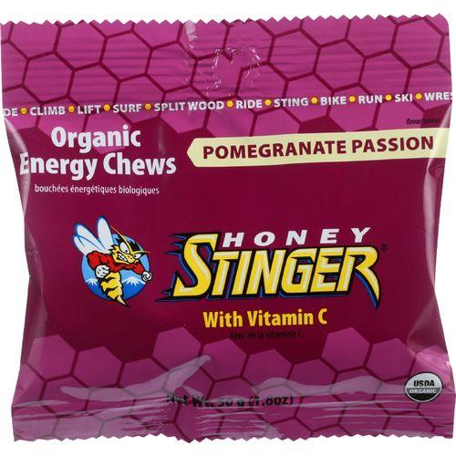 Honey Stinger Energy Chew - Organic - Pomegranate Passion Fruit - 1.8 oz - case of 12