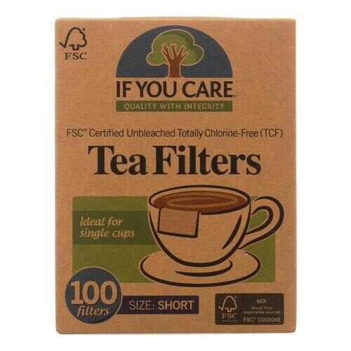 If You Care Fsc Certified Unbleached Tea Filters  - Case of 18 - 100 CT